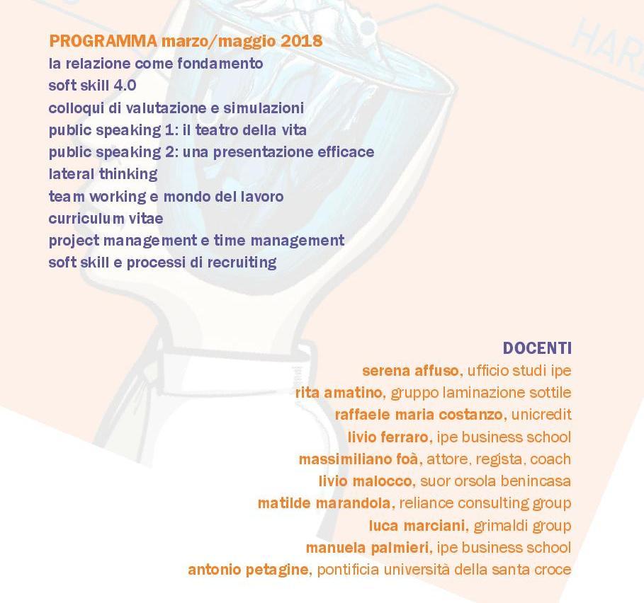 CoSo - Corso di Soft Skills: programma e docenti Accademia IPE