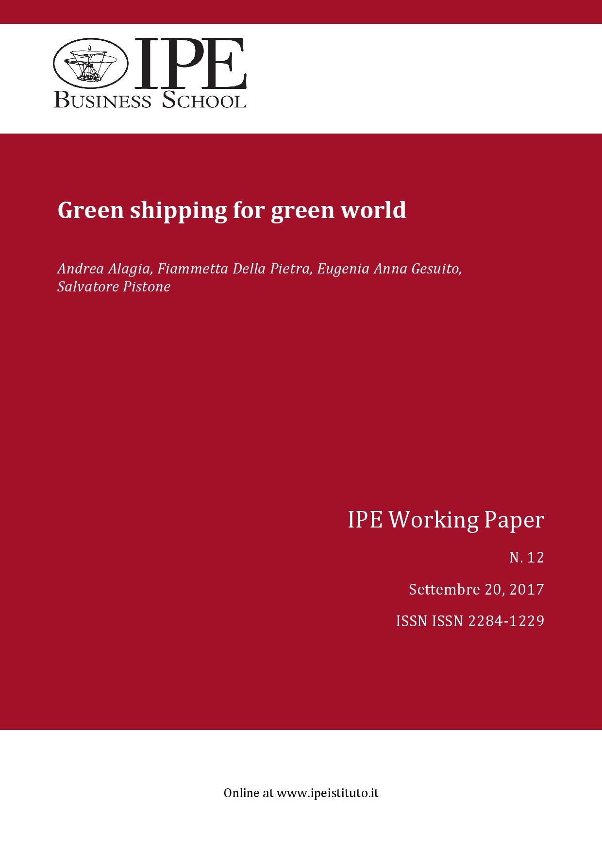 IPE Working Paper N.12/2017