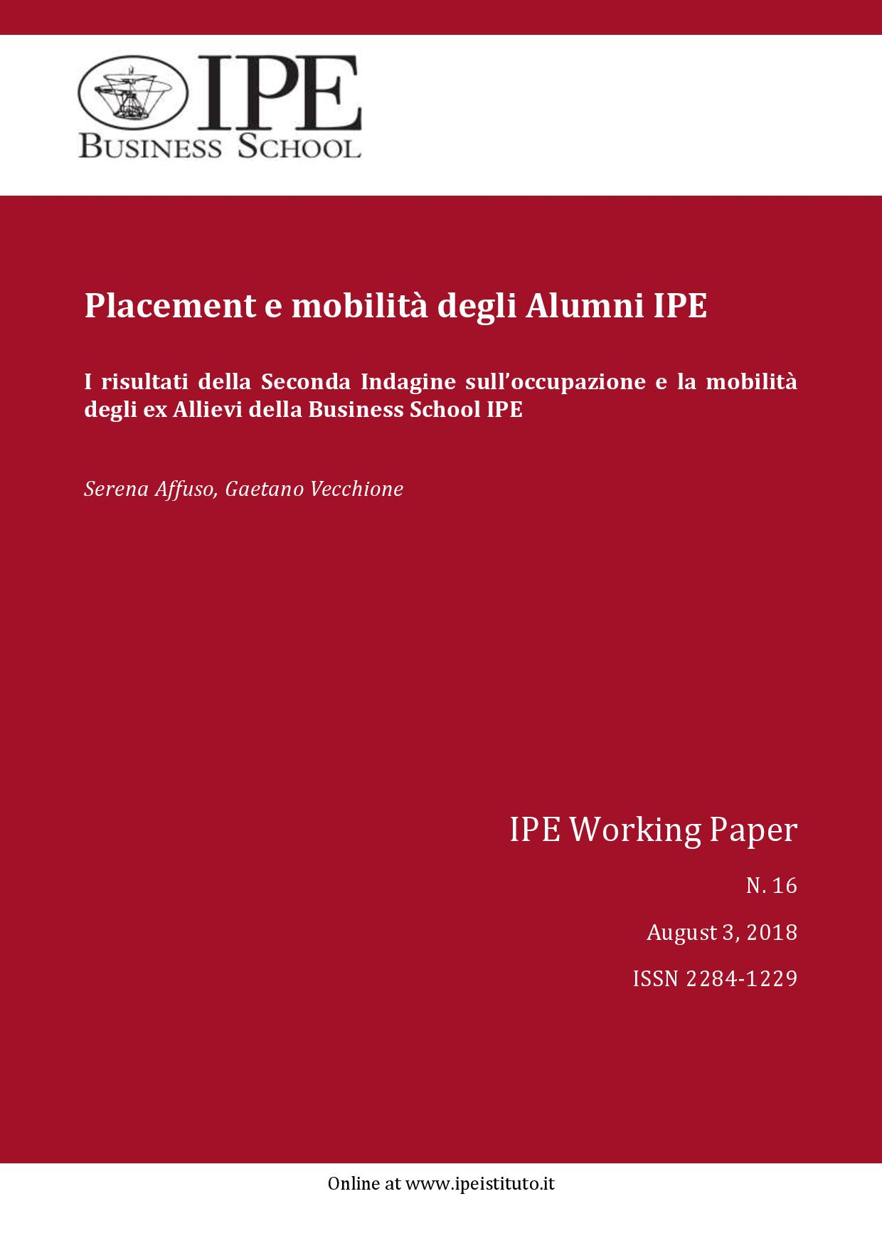 IPE Working Paper N.16/2018