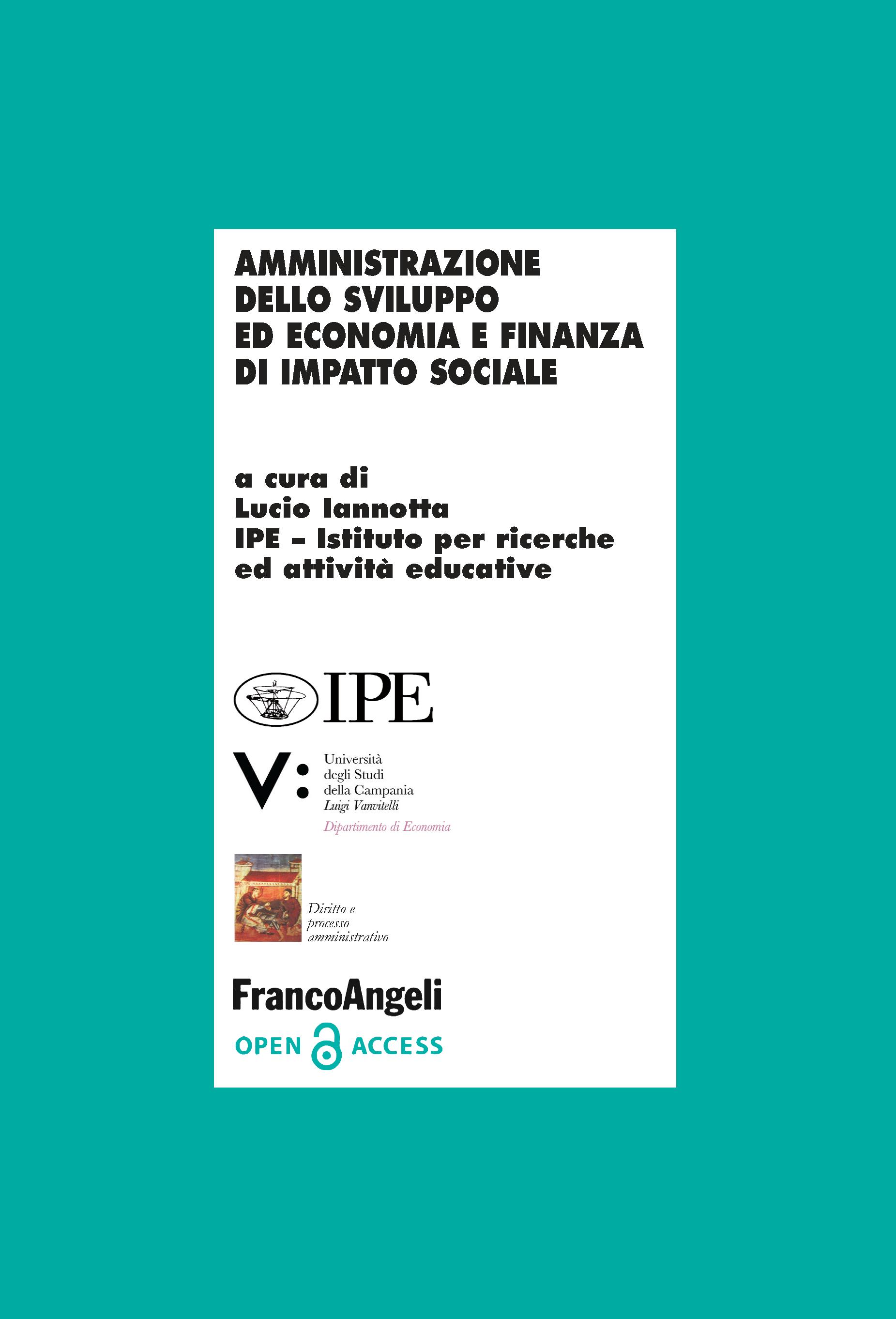 Amministrazione dello sviluppo ed economia e finanza di impatto sociale